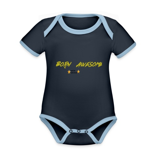 born awesome - Organic Baby Contrasting Bodysuit