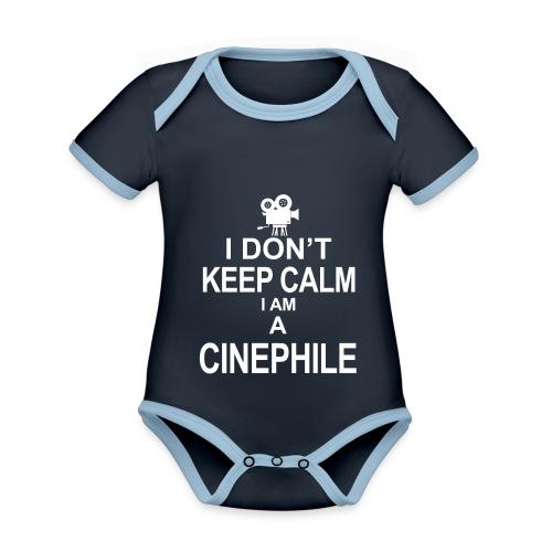 cinephile - cynamonowiec - Ekologiczne body niemowlęce z krótkim rękawem i kontrastowymi lamówkami