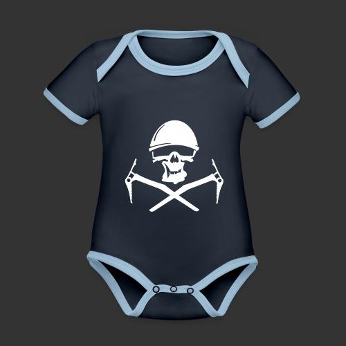 Climbing Skull - Baby Bio-Kurzarm-Kontrastbody