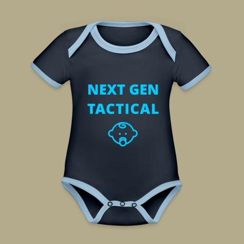 Tactical Baby Boy - Baby contrasterend bio-rompertje met korte mouwen