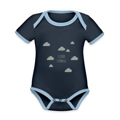 Cloud Storage - Baby Bio-Kurzarm-Kontrastbody