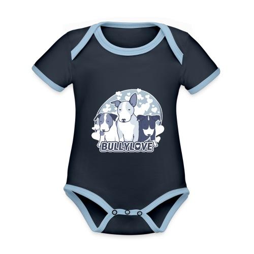 Bullterrier WELPEN - Baby Bio-Kurzarm-Kontrastbody