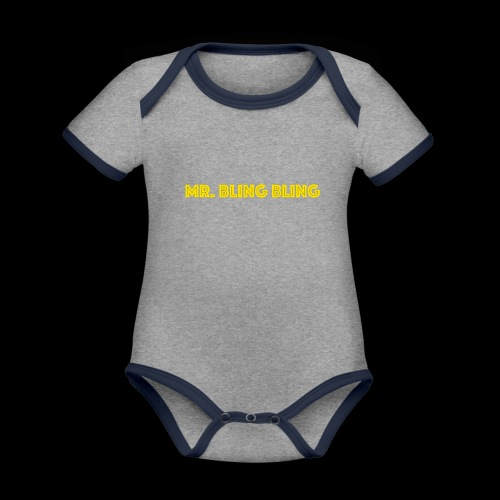bling bling - Baby Bio-Kurzarm-Kontrastbody