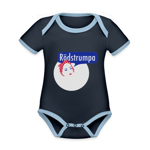 RÖDSTRUMPA 2 - Ekologisk kontrastfärgad kortärmad babybody