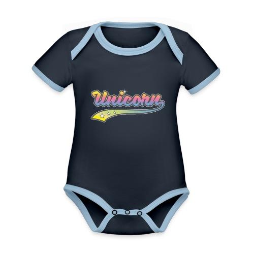 Unicorn Sport - Body Bébé bio contrasté manches courtes