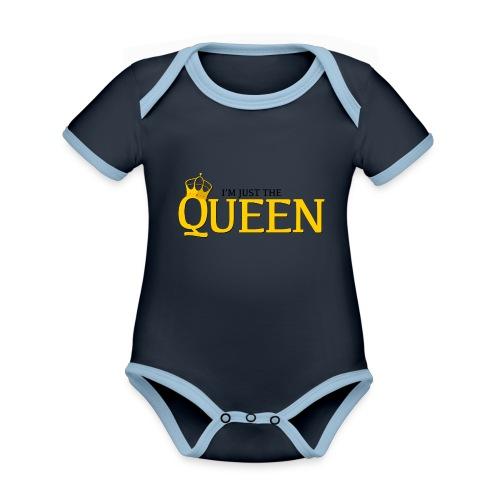 I'm just the Queen - Body Bébé bio contrasté manches courtes