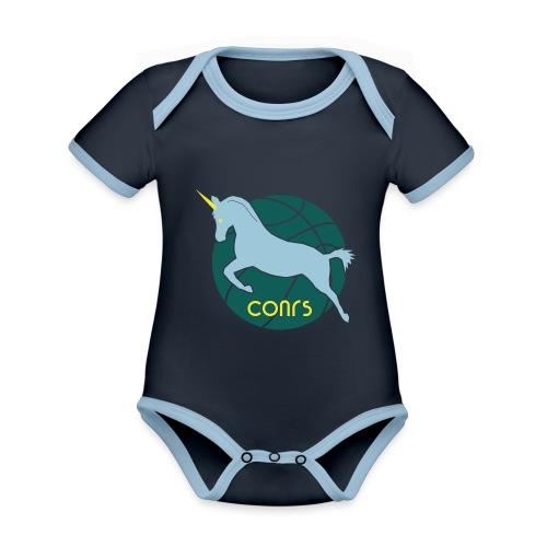 The Corns - Baby Bio-Kurzarm-Kontrastbody
