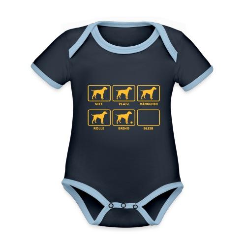 Für alle Hundebesitzer mit Humor - Baby Bio-Kurzarm-Kontrastbody