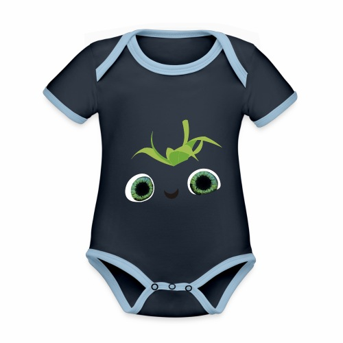 fresa tierna - Body contraste para bebé de tejido orgánico