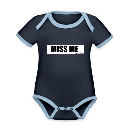 MISS ME - Organic Baby Contrasting Bodysuit