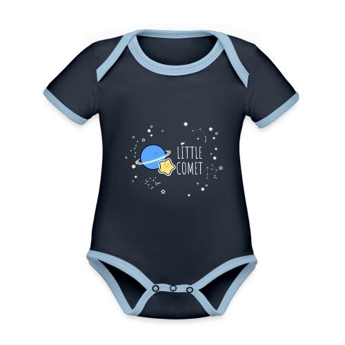 Little Comet - Vauvan kontrastivärinen, lyhythihainen luomu-body