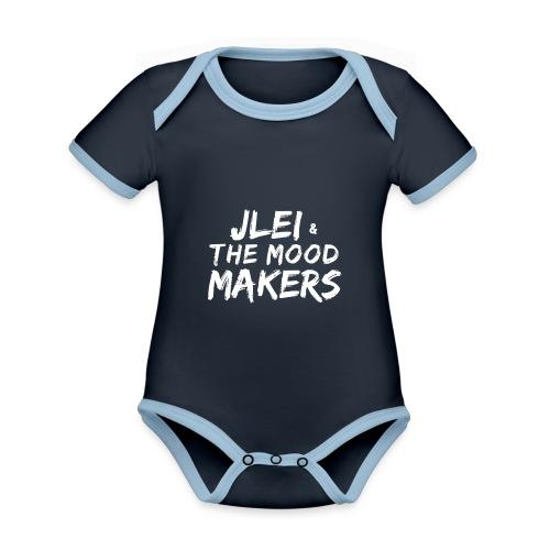 Jlei & The Mood Makers Schriftzug Weiss - Baby Bio-Kurzarm-Kontrastbody