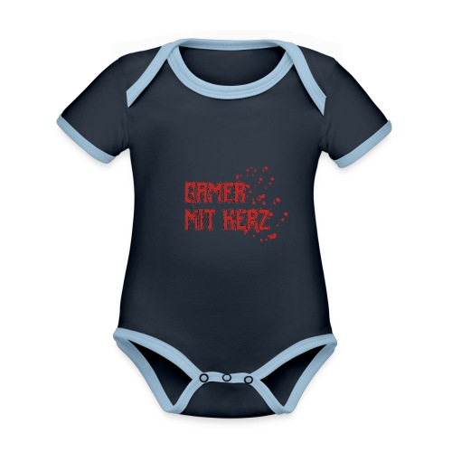 Gamer with heart - Organic Baby Contrasting Bodysuit
