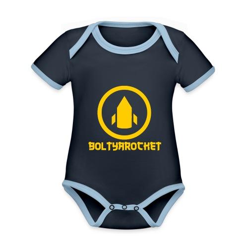 Bolt Ya Rocket - Organic Baby Contrasting Bodysuit