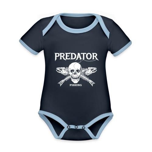 Predator Fishing T-Shirt - Baby Bio-Kurzarm-Kontrastbody
