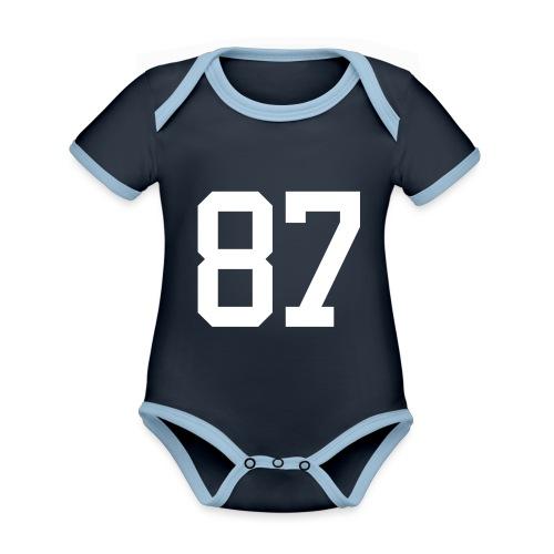 87 LEBIS Jan - Baby Bio-Kurzarm-Kontrastbody