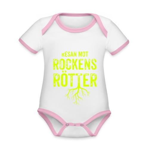 Fotbollströja svart. Resan mot rockens rötter. - Ekologisk kontrastfärgad kortärmad babybody
