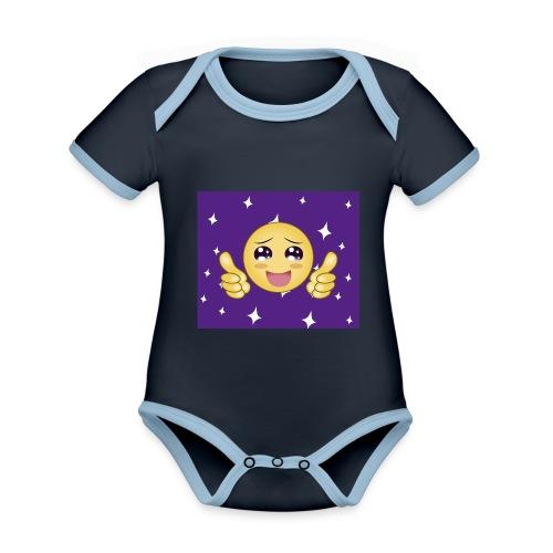 carita feliz optimista - Body contraste para bebé de tejido orgánico