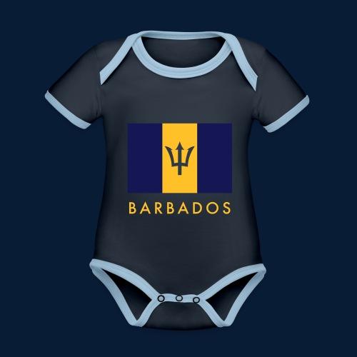 Barbados - Baby Bio-Kurzarm-Kontrastbody
