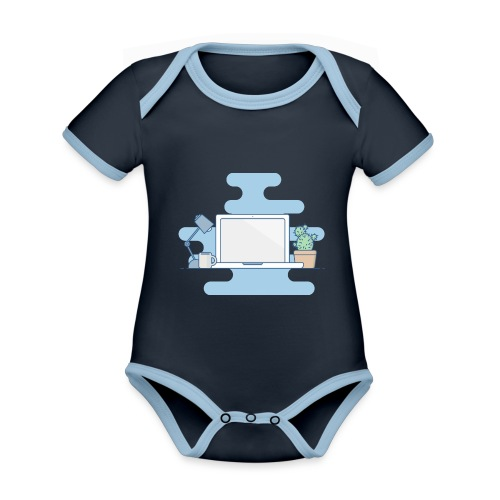Arbeitstisch - Baby Bio-Kurzarm-Kontrastbody
