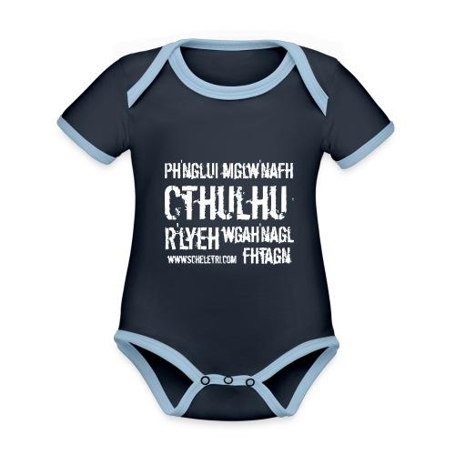 Cthulhu - Body da neonato a manica corta, ecologico e in contrasto cromatico