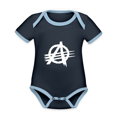 AGaiNST ALL AuTHoRiTieS - Organic Baby Contrasting Bodysuit