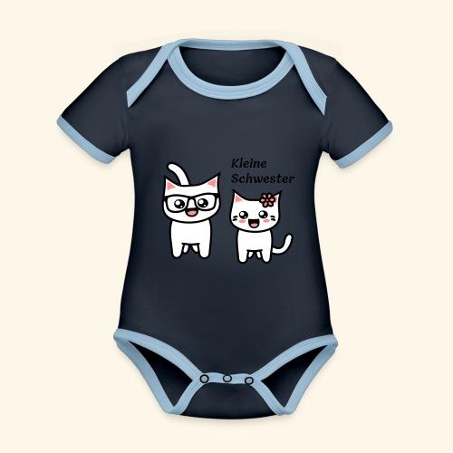 Kleine Schwester - Baby Bio-Kurzarm-Kontrastbody
