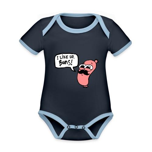 Mr. Sausage - Organic Baby Contrasting Bodysuit