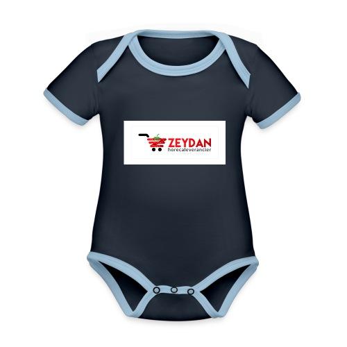 Zeydan - Baby contrasterend bio-rompertje met korte mouwen