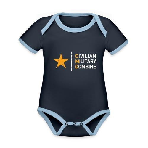 CMC Design - Baby contrasterend bio-rompertje met korte mouwen