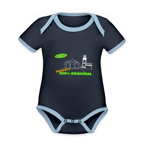 Dark City Gates - Organic Baby Contrasting Bodysuit