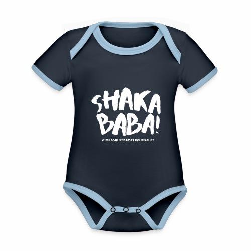 shaka - Vauvan kontrastivärinen, lyhythihainen luomu-body