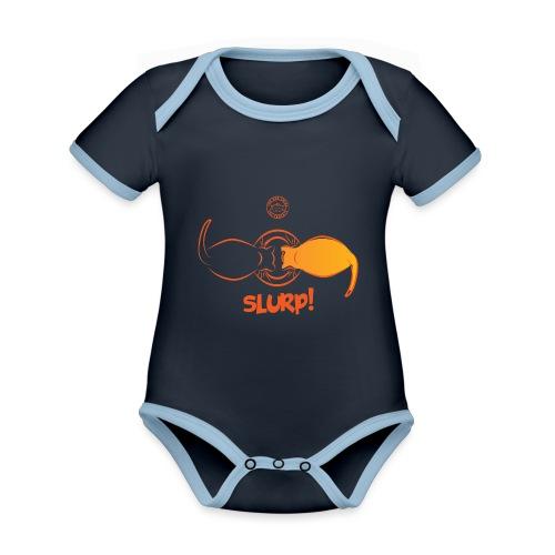 Slurp - Body da neonato a manica corta, ecologico e in contrasto cromatico
