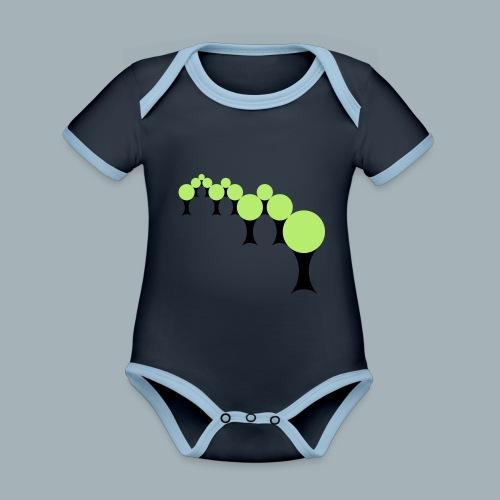 Golden Rule Premium T-shirt - Baby contrasterend bio-rompertje met korte mouwen