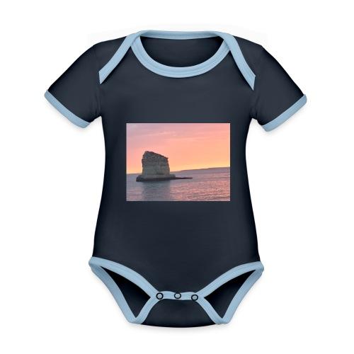My rock - Organic Baby Contrasting Bodysuit