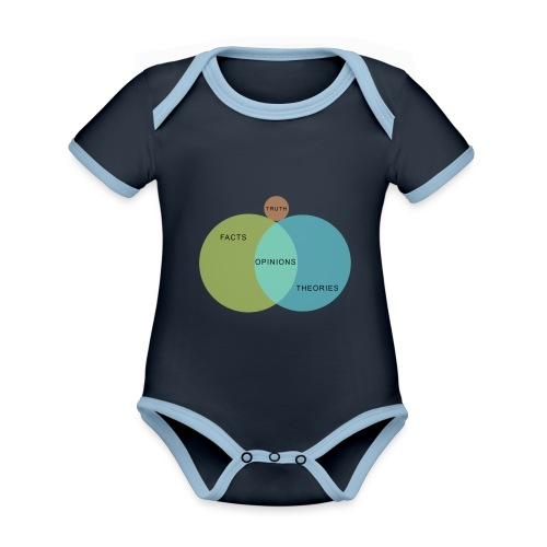 Ven Diagram Truth - Organic Baby Contrasting Bodysuit