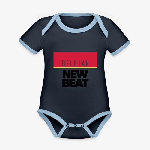 BNB SQ - Baby contrasterend bio-rompertje met korte mouwen