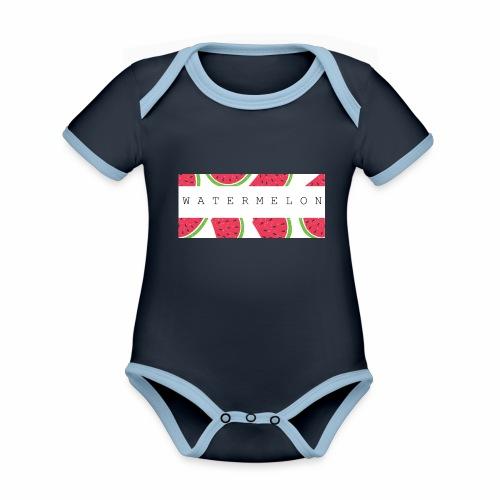 Watermelon - Body da neonato a manica corta, ecologico e in contrasto cromatico