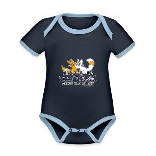 Nostalgia Hurts - Organic Baby Contrasting Bodysuit