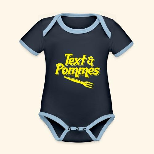 Text Pommes - Baby Bio-Kurzarm-Kontrastbody
