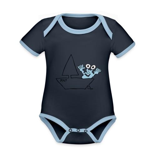 Segelmonster Sylt - Baby Bio-Kurzarm-Kontrastbody