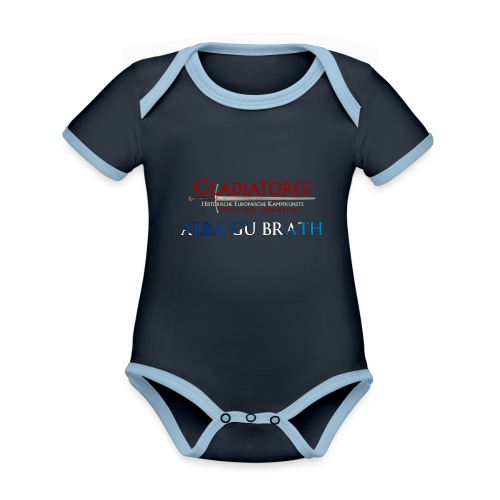 ALBAGUBRATH - Baby Bio-Kurzarm-Kontrastbody