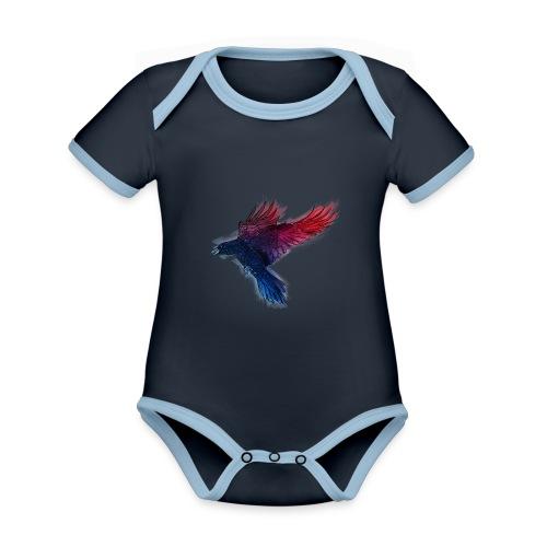 Watercolor Raven - Baby Bio-Kurzarm-Kontrastbody