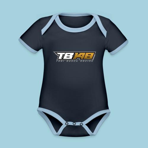 Tobi Logo Grau - Baby Bio-Kurzarm-Kontrastbody