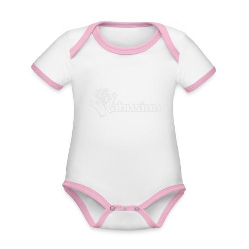 Wahnsinn Logo - Baby contrasterend bio-rompertje met korte mouwen