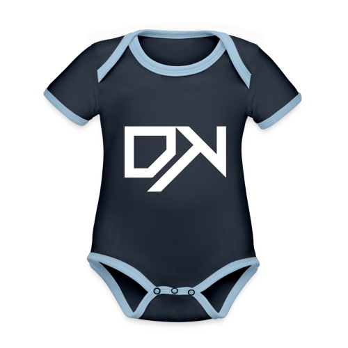 DewKee Logo Cap White - Organic Baby Contrasting Bodysuit