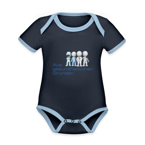 Aus gesundheitlichen Gründen - Baby Bio-Kurzarm-Kontrastbody