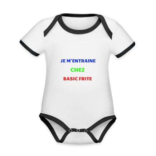Basic Frite - Body Bébé bio contrasté manches courtes