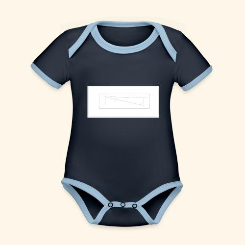 melles logga Design x2 - Ekologisk kontrastfärgad kortärmad babybody