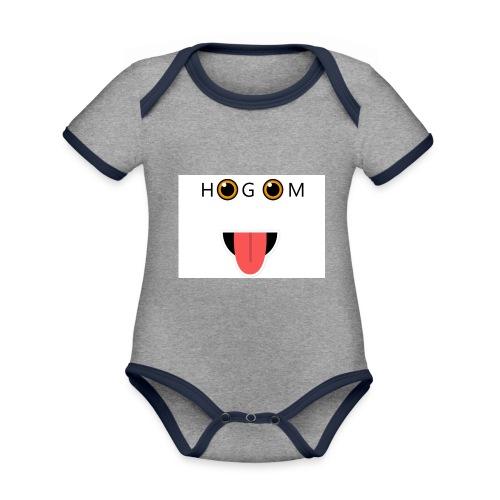 HetGameMisterie Logo - Baby contrasterend bio-rompertje met korte mouwen